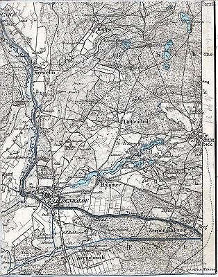 Liebenwalde Groß Schönebeck Schorfheide 1910 Teil-Karte/Ln Krewelin Kappe Hammer