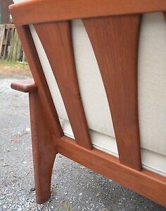 60er J  Couch Sofa massiv Teakholz Teak Danish Design Dänemark easy chair