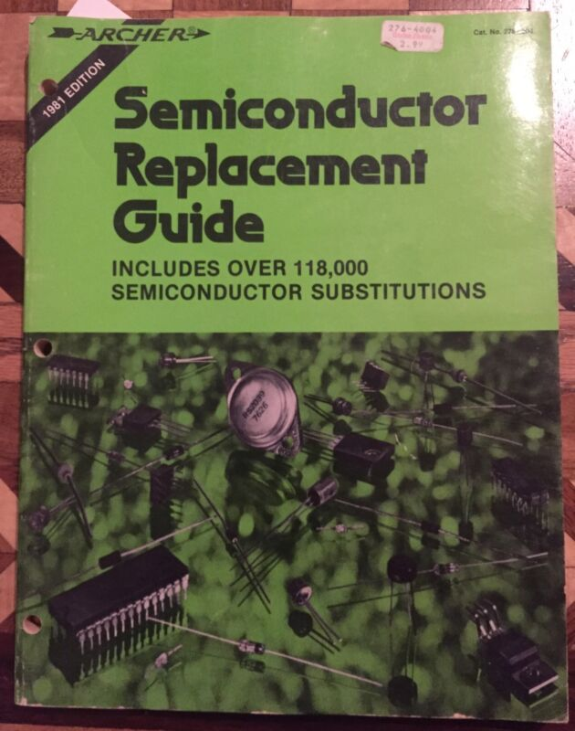 1981 Archer Semiconductor Replacement Guide Manual Radio Shack Sn628