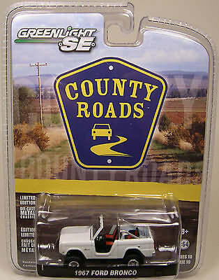 GREENLIGHT COLLECTIBLES 1:64 SCALE DIECAST METAL WHITE 1967 FORD BRONCO