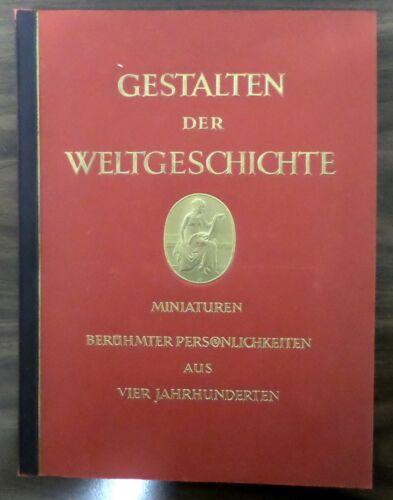 """GERMAN VINTAGE TOBACCO CARD ALBUM 1936 """"GESTALTEN DER WELTGESCHICHTE"""""""