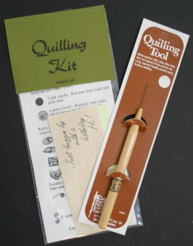 NIP Vintage Quilling Tool & Quilling Sample Kit by Quill Art