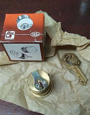 Ilco 1 14 Mortise Cylinder Kw1 Keyway Bright Brass Finish 03 With Yale Cam