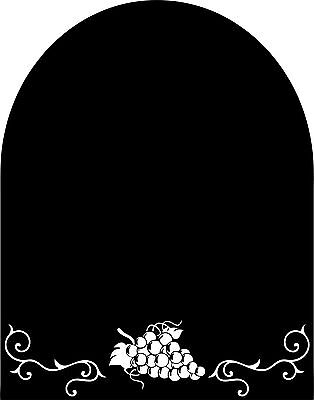 Chalkboard Borders (Decorative Grapes Chalkboard w/out Border for your Wall or Refrigerator)