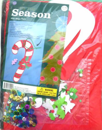 New Foam Winter Christmas Shapes Crafts Kits ~ Candy Cane