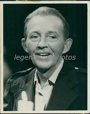 1977 Portrait Of Entertainer Bing Crosby Original News Service Photo