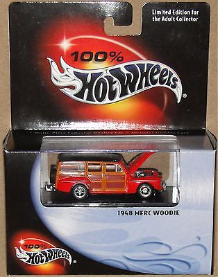 1948 MERC WOODIE - Red~Black, Hot Wheels 1:64, SHIPS FAST, NEW in Box!