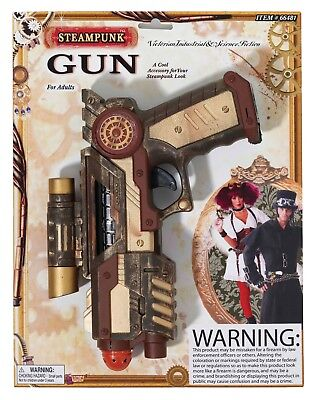 Steampunk Gun Fancy Dress Costume Accessory Halloween Victorian - Halloween Costume Industry