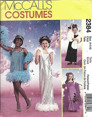 2384 Uncut Vintage Mccalls Nähmuster Glamour Mädchen Kostüm Halloween Oop Ff