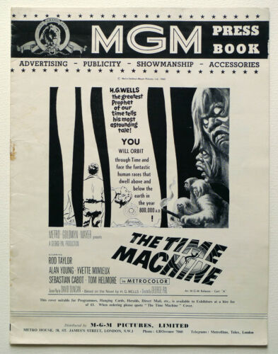 MGM UK PRESSBOOK The Time Machine Rod Taylor, Yvette Mimieux, George Pal
