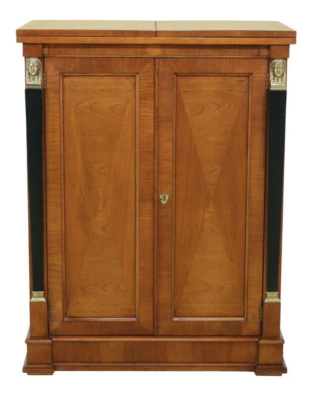50004EC: BAKER French Empire Style Cherry Bar Server Cabinet
