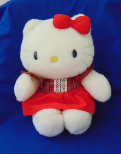 Vintage 1976 Sanrio Hello Kitty Plush Red Dress Made in Japan. NIB with tag