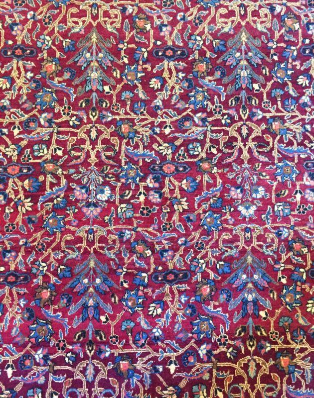 Fantastic Floral - 1920s Antique Oriental Rug - Handmade Carpet - 7.8 X 11 Ft.