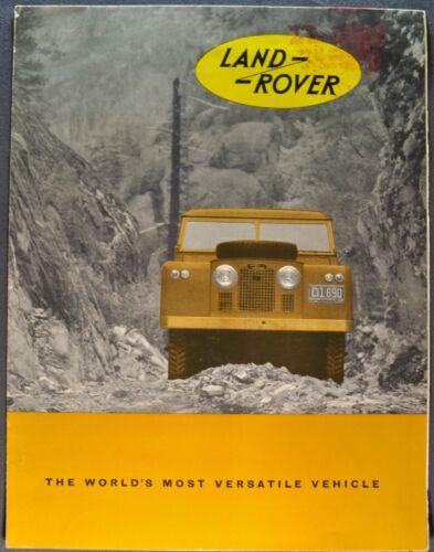 1960-1961 Land Rover Sales Brochure Folder Hardtop 4x4 Wagon Nice Original