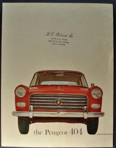 1961 Peugeot 404 Sedan Sales Brochure Folder Nice Original 61