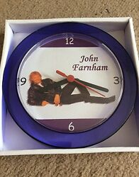 JOHN FARNHAM NOVELTY WALL CLOCK 7 inch NEW **L@@K**