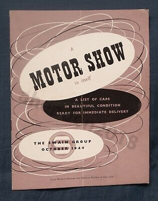 RARE SWAIN GROUP OCTOBER 1949 CAR BROCHURE-EXCELLENT CONDITION.