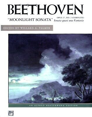 BEETHOVEN MOONLIGHT SONATA Opus 27 Complete PIANO MASTERWORK EDITION Sheet -