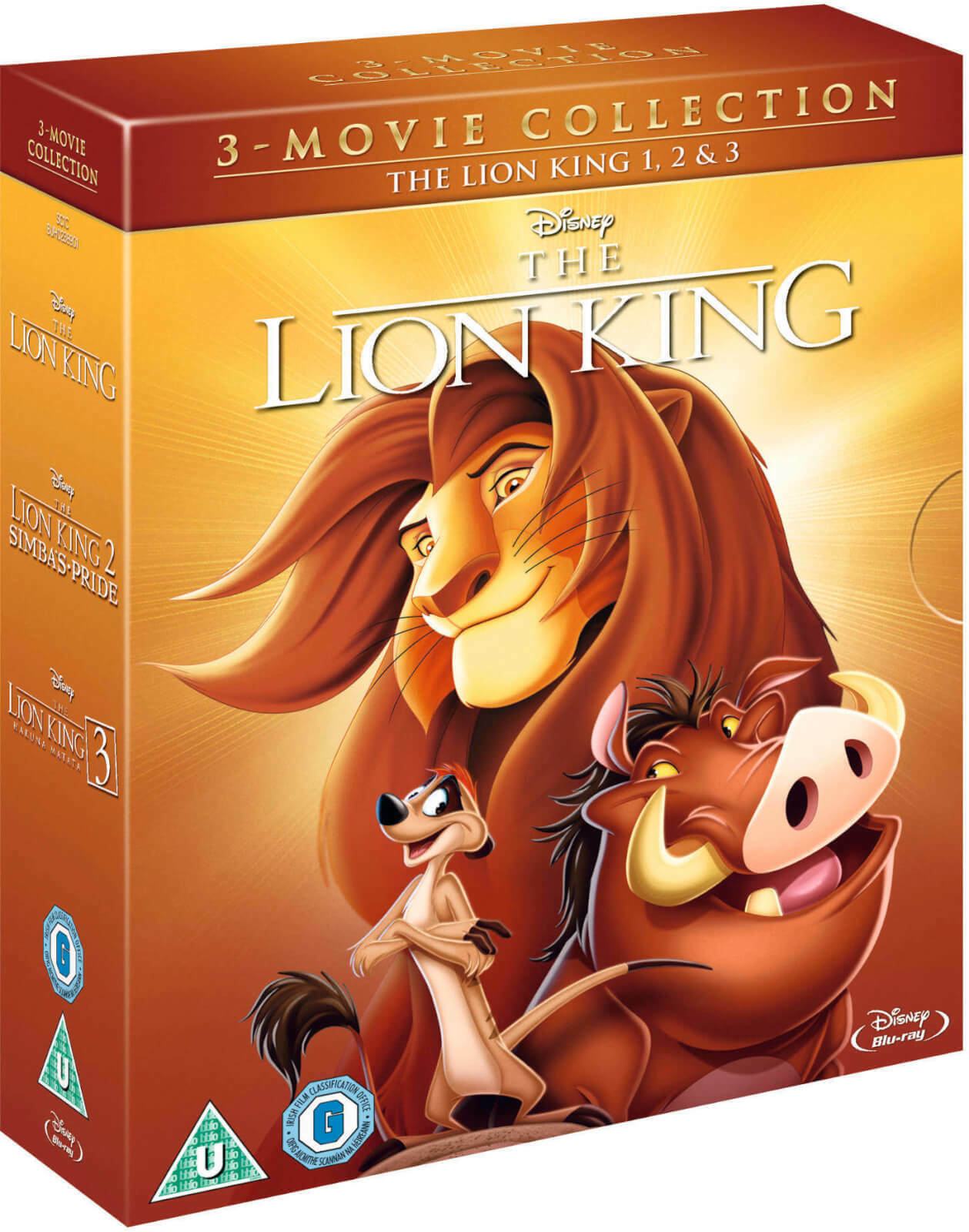 THE LION KING TRILOGY 1-3  Animated Disney Movie Collection