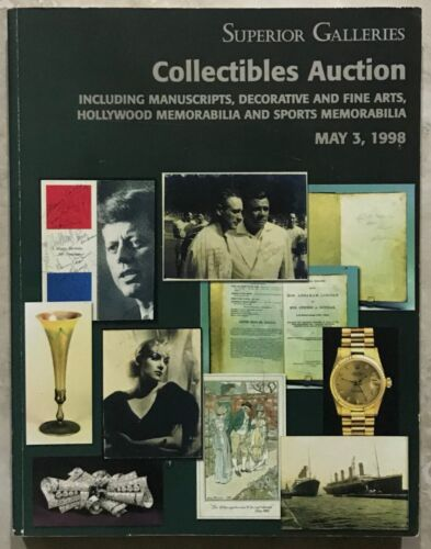 SUPERIOR CATALOG SPACE & COLLECTIBLES ART, SPORTS HOLLYWOOD & SPORTS 1998