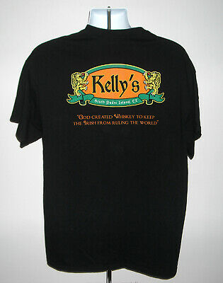 South Island Shirt - Mens Kellys South Padre Island TX t shirt XL God Created Whiskey to Keep Irish