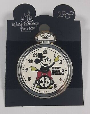 Disney DLR Mickey Mouse on Ingersoll Pocket Watch Pin