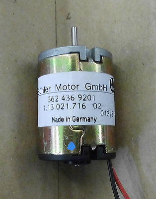Bühler DC Motor Ø31 länge 42mm Elektromotoren Gleichstrommotoren 1.13.021.X(DS13