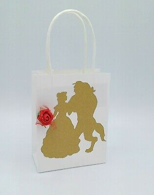 Beauty Beast Gift Bags Candy Bag Bags Disney Birthday Party Favors](Candy Bag Party Favors)