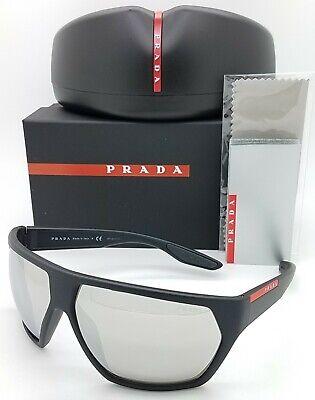 New Prada sunglasses PS08US DG02B0 67mm Black Silver Mirror AUTHENTIC Sport (Mens Black Prada Sunglasses)