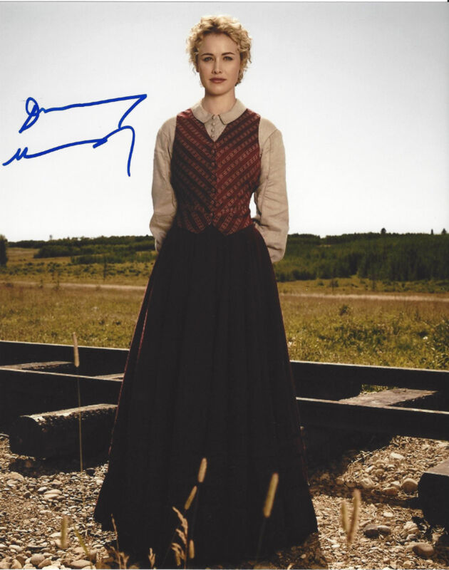 DOMINIQUE MCELLIGOTT SIGNED AUTHENTIC 'HELL ON WHEELS' 8X10 PHOTO w/COA SEXY