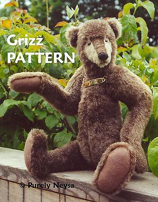"Mohair Plush ""Grizz""  a Teddy Bear PATTERN by Neysa A. Phillippi of Purely Neysa"