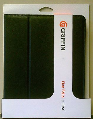 Griffin Elan Folio Folding Carrying Case for iPad 1st 2nd 3rd Gen Black Leather