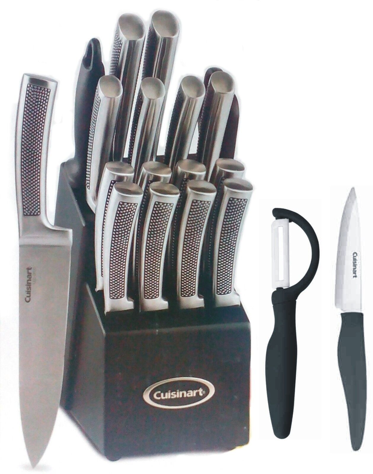 Cuisinart  21PC Stainless Forged Block Set Embossed Ceramic knife paypal CNY17