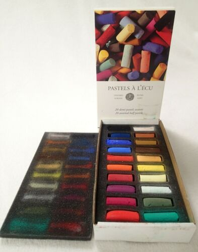 Sennelier Pastel Half Stick Set Assorted Colors Set of 20 Extra Soft Free Ship!
