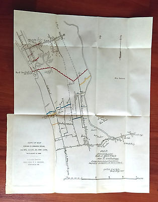 1898 Sketch Map Furnished to Commanding Officers, General Greene, Philippines
