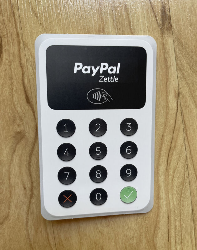 Paypal Zettle Point of Sale POS Brochure Pamphlet Ad Expandable Information Card
