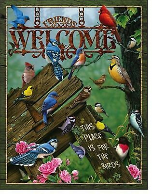 Bird Lover Metal Sign Picture Nature Cardinal Cabin Home Wall Art Decor Gift