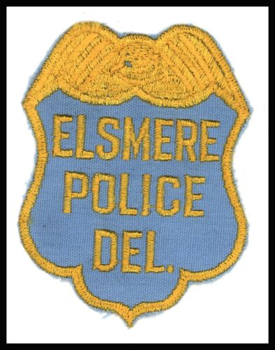 "Elsmere Police Deleware 3"" x 4"" Embroidered Patch Cheese Cloth Back"