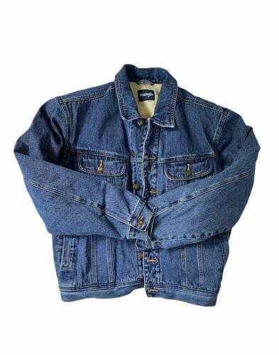 Vintage 90's Sherpa lined Wrangler Denim Jacket size L