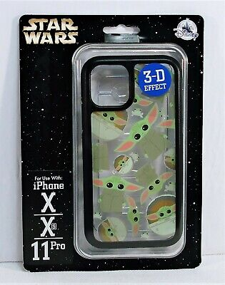 Disney Star Wars Baby Yoda Mandalorian 3-D Effect Apple Iphone X/XS/11 Pro Case