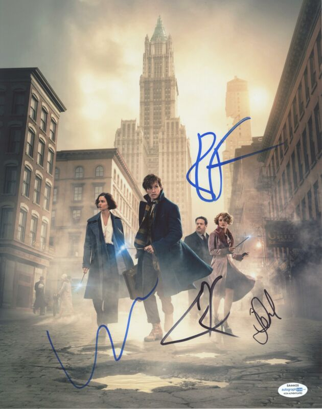 """""""Fantastic Beasts and Where to Find Them"""" Cast AUTOGRAPH Signed 11x14 Photo ACOA"""