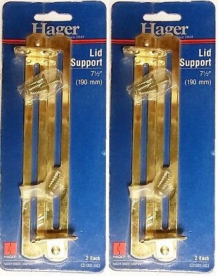 Brass Trunk Lid Support - Hager Lid Support 2 Pack 7.5