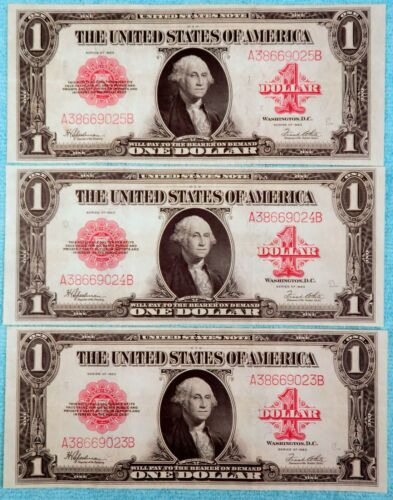 Fr #40 1923 $1 Red Seal United States Note Legal Tender