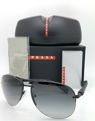 New Prada Aviator sunglasses PS 56MS DG05W1 65 Polarized Grey Gradient (Prada Polarized Aviator Sunglasses)