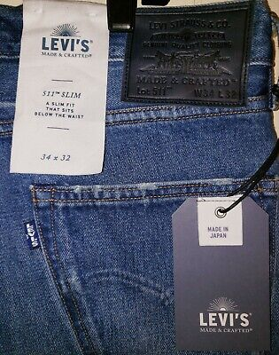 Levi's Made & Crafted Japanese Selvedge Denim Jeans Mens 34×32 NWT $228.00