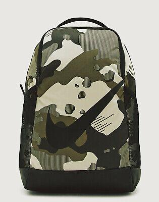 Nike Brasilia camo Backpack bag kids adult unisex green school NEW zip up RARE