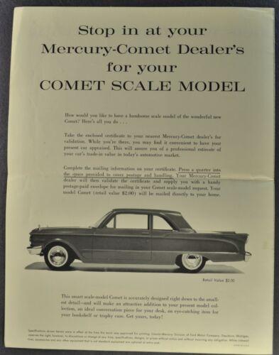 1960-1961 Mercury Comet Promo Model Offer Brochure Sedan Wagon Nice Original