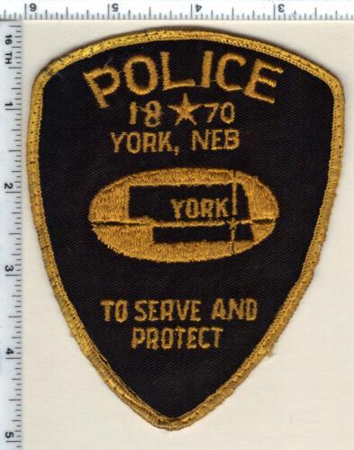 York Police (Nebraska) Uniform Take-Off Shoulder Patch from the early 1980