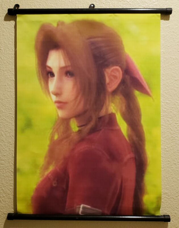 Final Fantasy VII 7 Aerith Cloth Wall Scroll 2009 Art Print Poster Figure Cloud