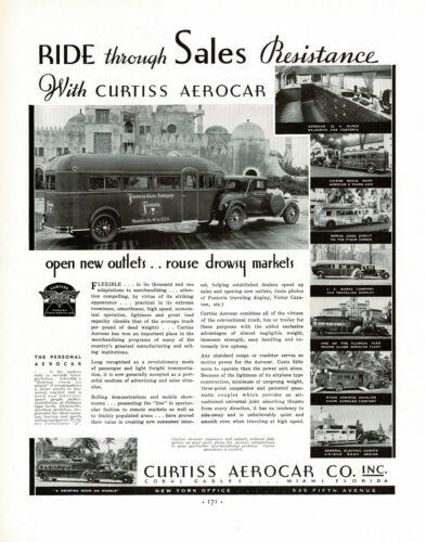 1930s BIG Original Vintage Curtiss Aerocar Car Photo Print Ad